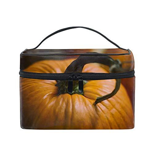 Orange Pumpkin Portage Large Toiletry Kit and Cosmetics Bag