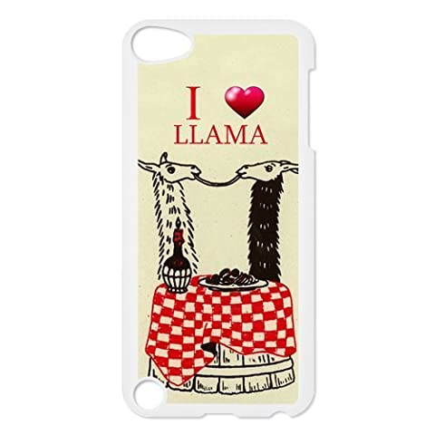 Fashion Series Cute design I love llamas candlelight dinner Hipster iPod Touch 6th Best PVC Case Including Dust (Ipod 5 Llama Case)
