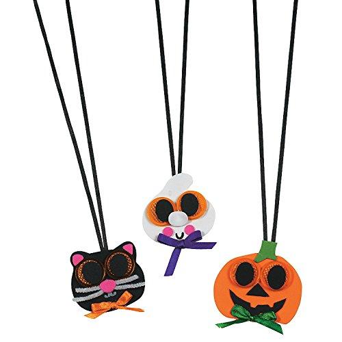 Halloween Reflector Necklace Craft Kit ()