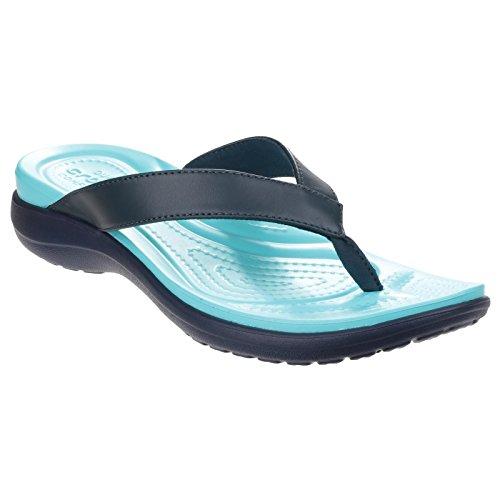 Crocs Women Capri V Flip Flops Chai/ Walnut Z4uEwo1AN