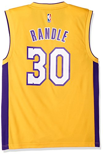 NBA Men's Los Angeles Lakers El Replica Player Home Jersey, Medium, Yellow