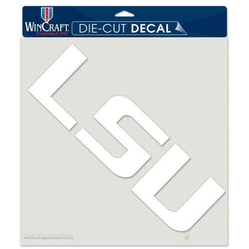 WinCraft LSU Tigers White Die Cut Decal