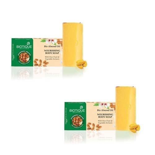 pack Of 2 150g Biotique Bio Almond Oil Nourishing Body Soap
