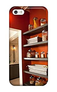CemVMcc15510LyQdN Case Cover, Fashionable Iphone 5/5s Case - Wood Shelves In Laundry Room For Pantry And Storage