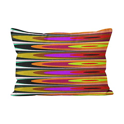 Suike Colored Saucers Beauty Hidden Zipper Home Decorative Rectangle Throw Pillow Cover Cushion Case Boudoir 12x20 Inch One Side Design Printed Pillowcase