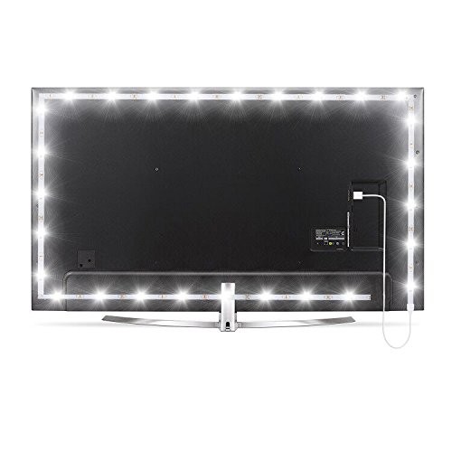 WENICE USB Bias Lighting Pure White 6500k 4m/157inch LED TV Backlight Strip Ambient Home Theater Light, TV Accent Lighting to Reduce Eye Strain, Improve Contrast
