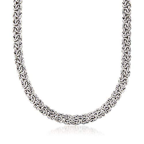 (Ross-Simons Sterling Silver Classic Byzantine Necklace)
