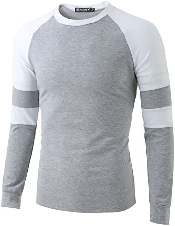 Allegra K Hombre Contraste Color Raglán Camiseta Camisa - sintético, Gris Claro, 5% spandex 95% poliéster, Hombre, S (UK 34): Amazon.es: Ropa y accesorios