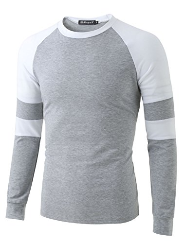 Allegra K Men Contrast Color Raglan Tee Shirt