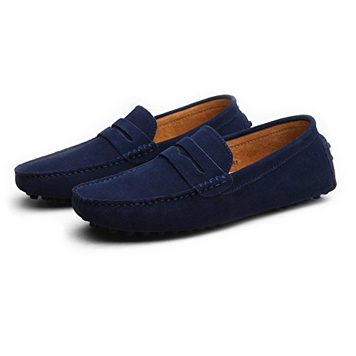 on ShoesUp to da in pelle EU Mocassini Size Flat Scarpe scamosciata uomo BBethun Mocassini barca da 49 scamosciata da Fashion guida in Business scivolate Scarpe Mocassini casual Slip pelle 45fqwSB