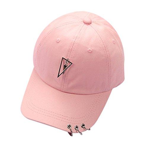 Display Trooper Flag Case (YQZB Women Men Baseball Cap Couple Pendant Ajustable Snapback Sun Hat Unconstructed Hip Hop Flat Visor Headwear Pink)