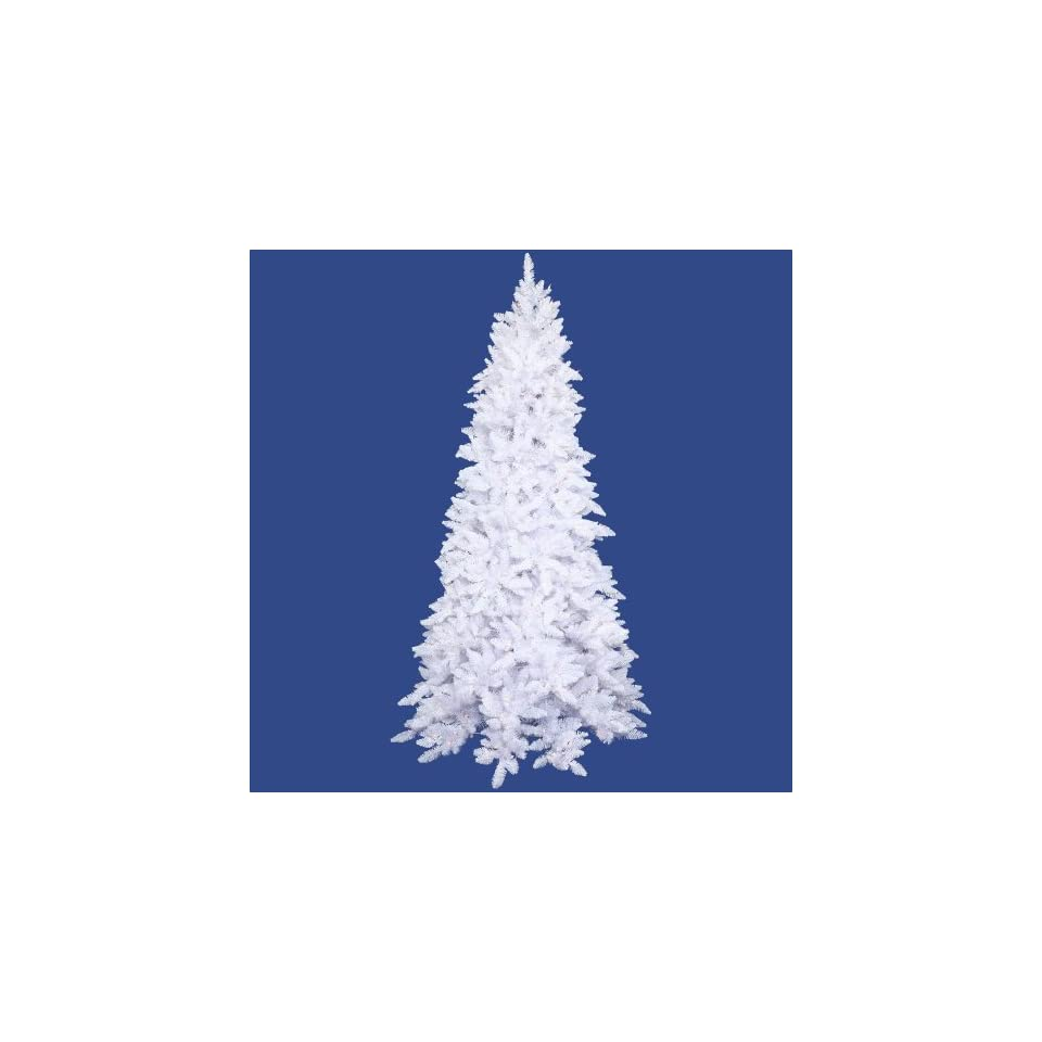 3 Pre Lit White Ashley Spruce Artificial Christmas Tree   Clear Lights