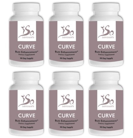 (IsoSensuals CURVE | Butt Enhancement Pills (6 Bottles))