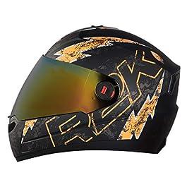 Steelbird SBA-1 R2K Live Full Face Helmet in Matt Finish Helmet Fitted with Clear Visor and Extra Chrome Visor (Medium…