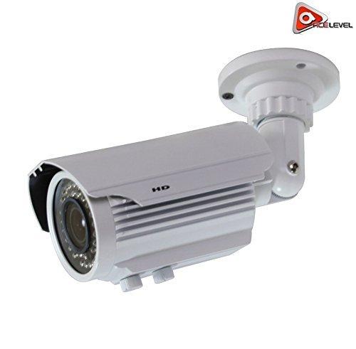 Varifocal Color Bullet Camera - Acelevel AHD 720P Night Vision Weatherproof Vari-Focal Bullet Camera (White Color)