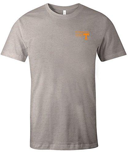 NCAA Tennessee Volunteers Adult NCAA Hand Type Short sleeve Triblend T-Shirt,Large,Oatmeal - Tennessee Volunteers Brown Football