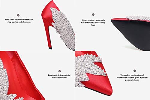 Chaussures NBWE Femmes Printemps et Red d'automne pour de Satin en vZdZxq
