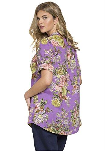 Roamans Women's Plus Size English Floral Tunic