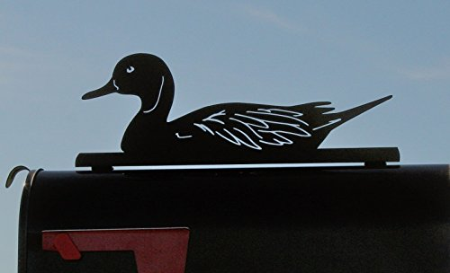 Swimming Mallard Duck Metal Mailbox Topper