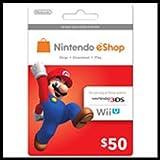 Nintendo Eshop Prepaid Card $50 for 3ds or Wii U