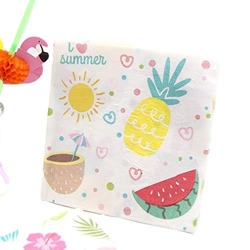 Sala-Tecco - New!20PCS Flamingo Paper Napkin 100% Virgin Wood Tissue Paper Napkins For Summer Party Decoration Wedding Favors Paper Supplies