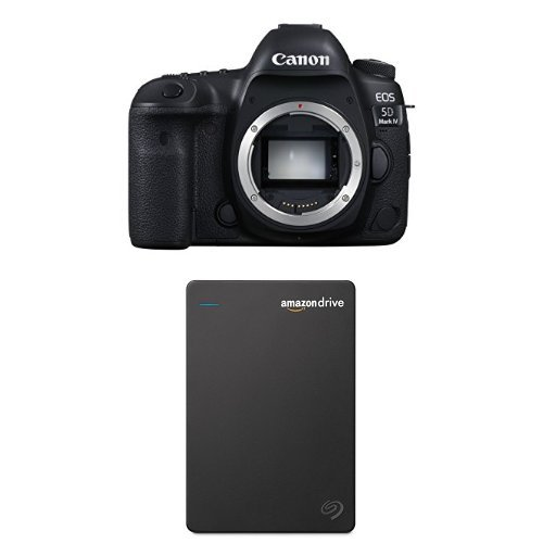 Canon EOS 5D Mark IV Full Frame Digital SLR Camera Body with Seagate 1TB Hard Drive and 1-Year Amazon Drive