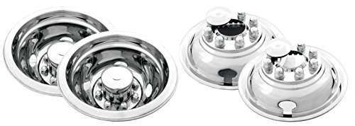 U Polished Stainless Steel Universal Truck Wheel Simulator Set for Chevrolet/Ford/Dodge (16