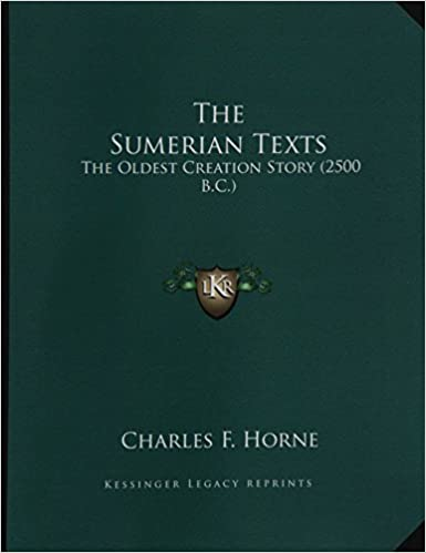 Amazon com: The Sumerian Texts: The Oldest Creation Story (2500 B C