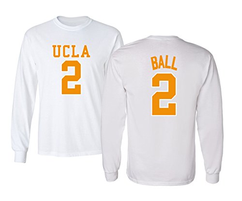 UCLA 2017 Bruins Lonzo Ball 2 College Basketball Youth Boys Girls Long Sleeve T Shirt -