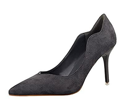 Ryse Women's Fashionable Suede Delicate Elegant Thin High Heels Pointy Shoes