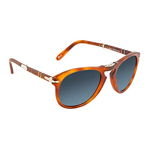 Persol PO0714SM 96/S3 Light Havana Aviator Folding Steve McQueen Sunglasses -