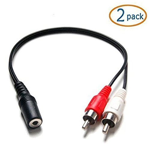 female stereo to dual rca 6 inch male red white audio adapter cable pack 723980358618 ebay. Black Bedroom Furniture Sets. Home Design Ideas
