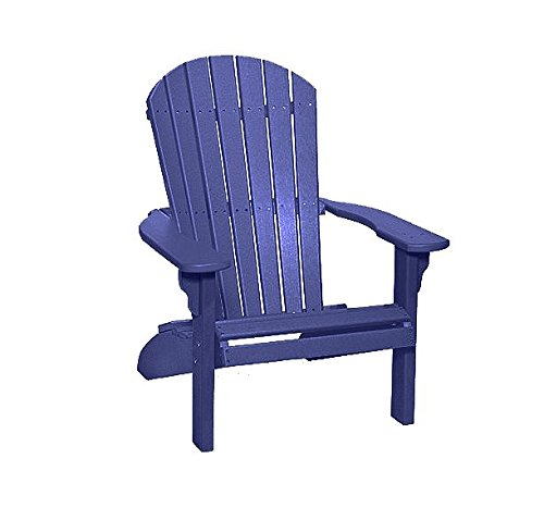 Poly Fan-Back Adirondack Chair (Patriot Blue) For Sale