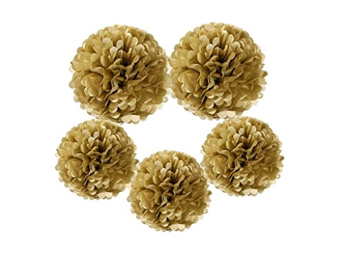 mixed gold tissue paper pom