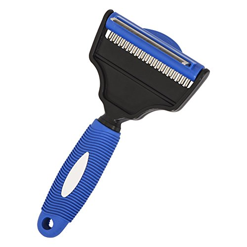 Unizero Deshedding and Grooming Tool 2 in 3 Dual Rake for...