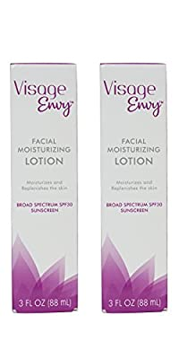 Visage Envy Facial Moisturizing Lotion SPF 30, 3 Ounce (Pack of 2)