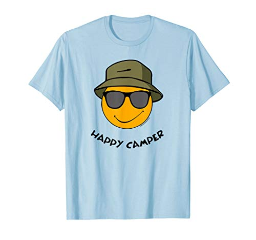 Happy Camper Cool Smiley Dog Retro Funny Camping - Smiley Face Boxer