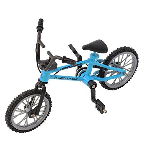 [해외]ONcemoRE Finger Alloy Bicycle Model Mini MTB BMX Fixie Bike Boys Toy Creative Game Gift - Blue / ONcemoRE Finger Alloy Bicycle Model Mini MTB BMX Fixie Bike Boys Toy Creative Game Gift - Blue