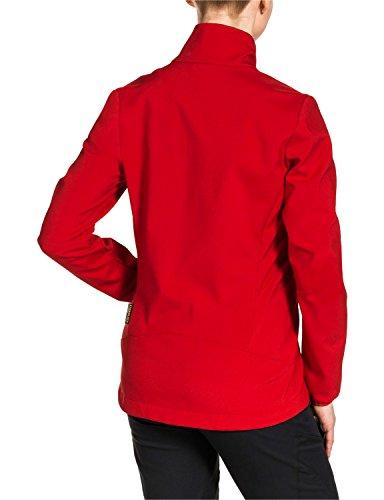 Jack Wolfskin cubierta suave Jkt elemento chaqueta mujeres rojo fuego