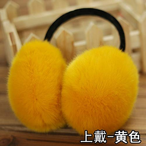 Men's Warm Earmuffs Earmuffs Ear Package Winter Ear Cover Their Ears Warm sub-sub-Sets Dress up Ears Warm Ear Cover Ear Ear hat Cap Women Girls Star (on dai - Yellow