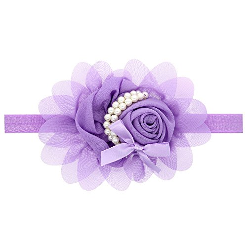 UCQueen Headwraps for Baby Girls Chiffon Flower Lace Band hair accessories for Newborns Infants Toddlers -