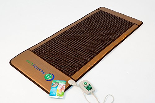 HealthyLine Far Infrared Heating Mat - For Pain Relief, Stress & Insomnia 76'' x 32'' | Natural Tourmaline Stone | Negative Ions (XL & Firm) | FDA Registered by HealthyLine (Image #3)'