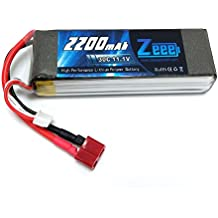 Zeee 11.1V 30C 2200mAh Lipo RC Rechargeable Battery for RC Helicopter/Airplane/Car/Truck/Boat, RC Hobby