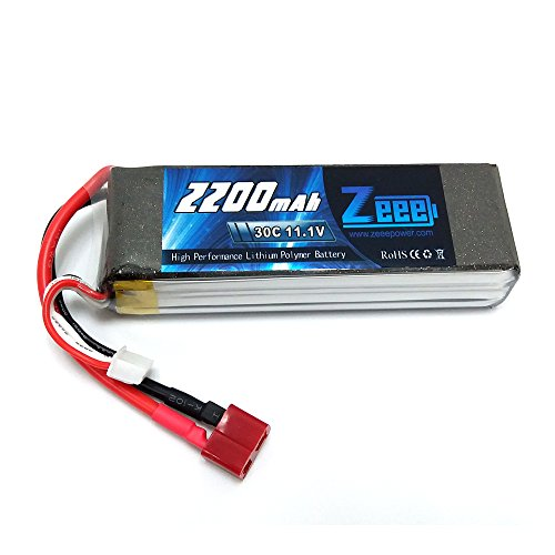Airsoft Rc Helicopter (Zeee 11.1V 30C 2200mAh Lipo RC Rechargeable Battery for RC Helicopter/Airplane/Car/Truck/Boat, RC Hobby)