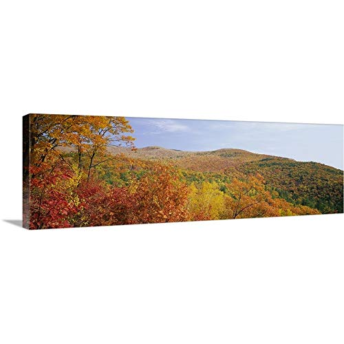 GREATBIGCANVAS Gallery-Wrapped Canvas Entitled Panoramic View of a Landscape, Moultonborough, Carroll County, New Hampshire, New England by 60