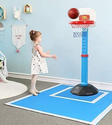 Basketbal Set Kids Basketball Set, Safe Verstelbare Hoop Net System, Portable Basketball Kantelsteun for peuter Chi DDLS