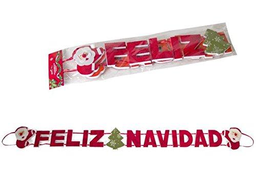 Gerimport Cartel Feliz Navidad 3D 110cm: Amazon.es: Hogar