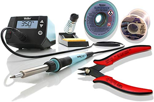 (Weller WE1010NA Kit 2 - Includes Clipper, Desoldering Braid and One Pound Spool of 63/37 Tin Lead Solder)