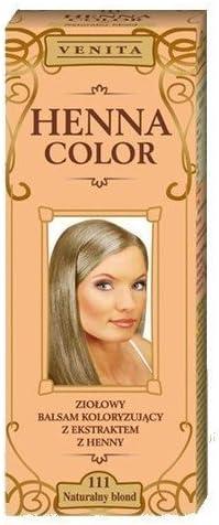 Henna Color 111 Natural Rubia Bálsamo Capilar Tinte Para Cabello Efecto De Color Tinte De Pelo Natural Gallina Eco