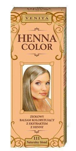 Henna Color 111 Natur Blond Haarbalsam Haarfarbe Farbeffekt Naturhaarfärbemittel Henne Öko